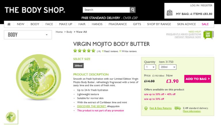 Mojito body butter 1