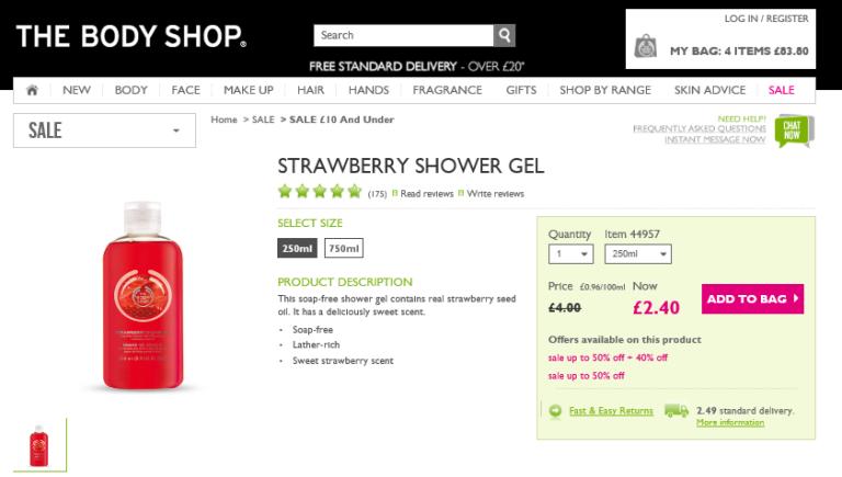 Strawberry shower gell 1